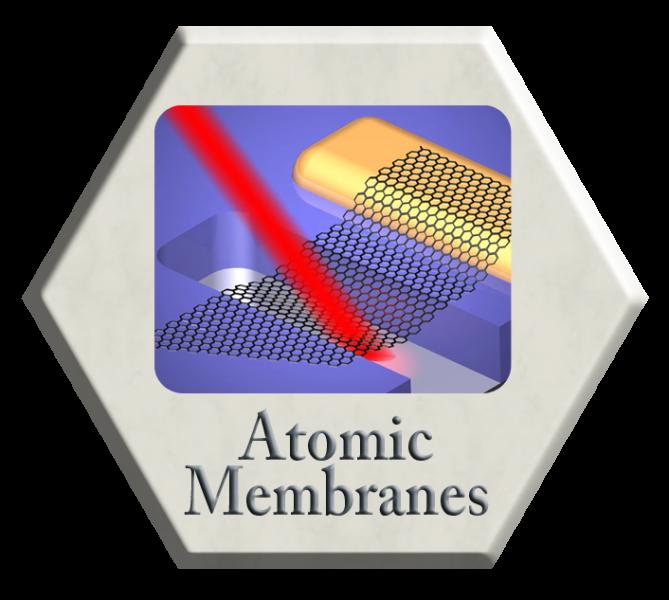 Atomic Membranes as Molecular Interfaces