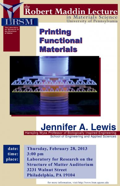 The Robert Maddin Lecture in Materials Science