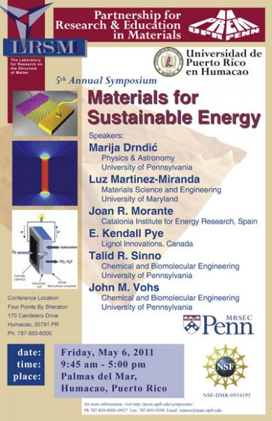 5th Annual Symposium, Materials for Sustainable Energy
